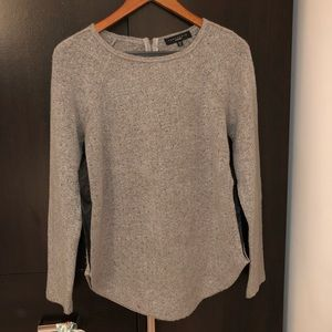 Sanctuary gray Sweater with gold accents